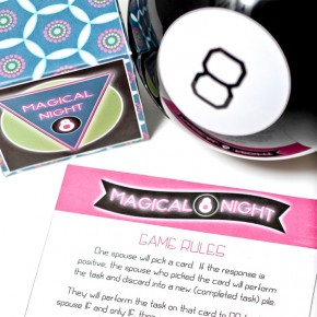Magic 8 Ball Evening - an intimacy game for you and your spouse.