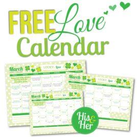 March 2016 Love Calendar