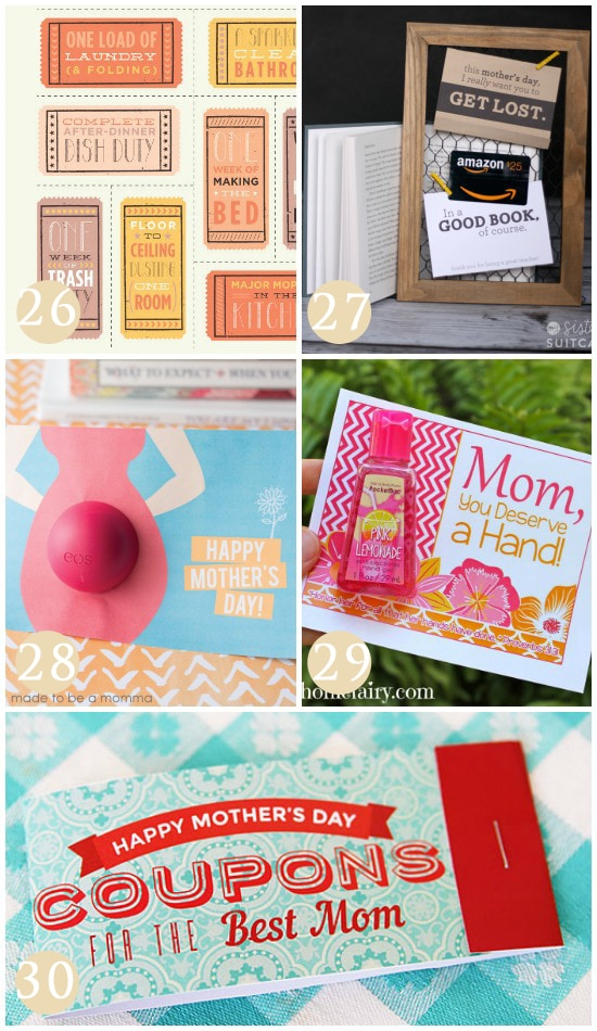 Easy Gift Ideas for Mom on Mother's Day