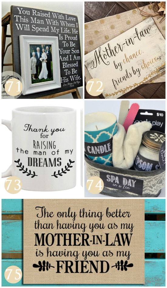 Mother's Day gift ideas for your mother-in-law!