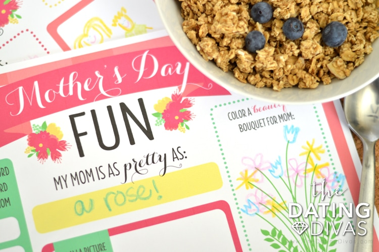 Mother's Day Printable Coloring Placemats