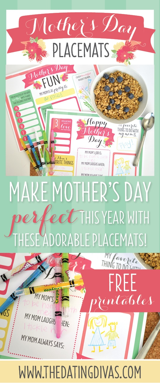 Mother's Day Printable Placemats
