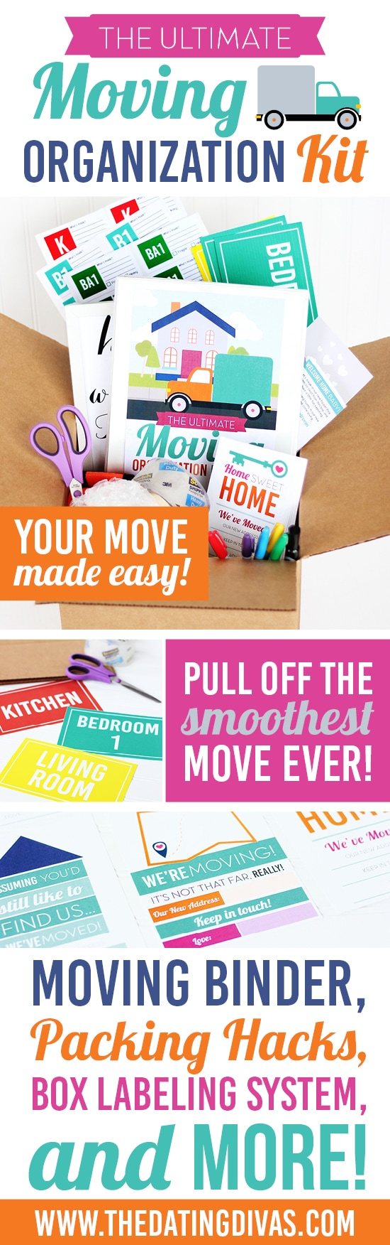 SO many awesome moving tips in this Moving Organization Kit & Binder! #TheDatingDivas #MovingTips #MovingMadeEasy