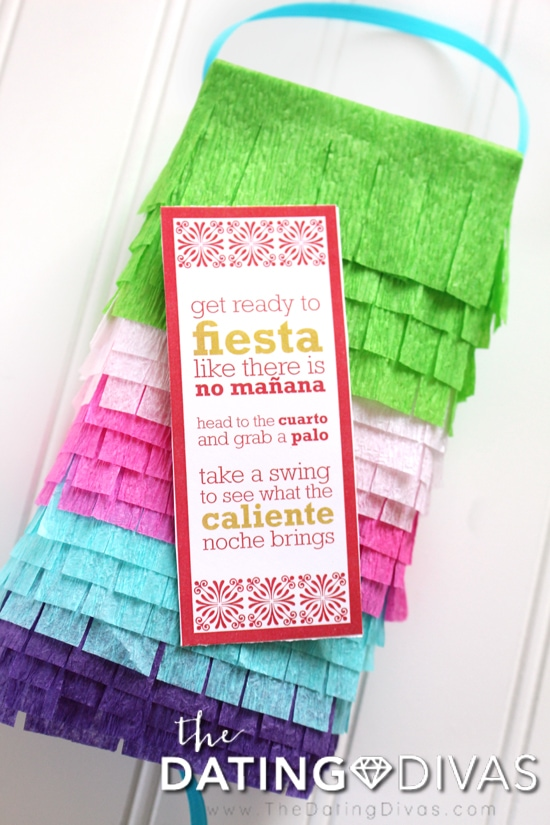 Pinata Date Bedroom Fiesta Invite