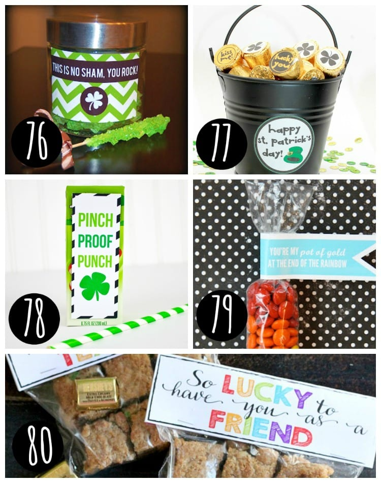 St. Patrick's Day Treats printable ideas