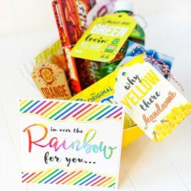 Romantic Rainbow Gift Basket