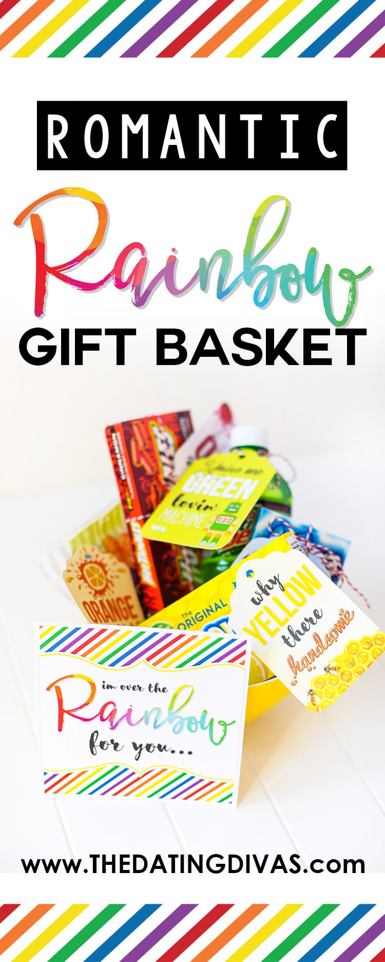 Romantic Rainbow Gift Basket Printables