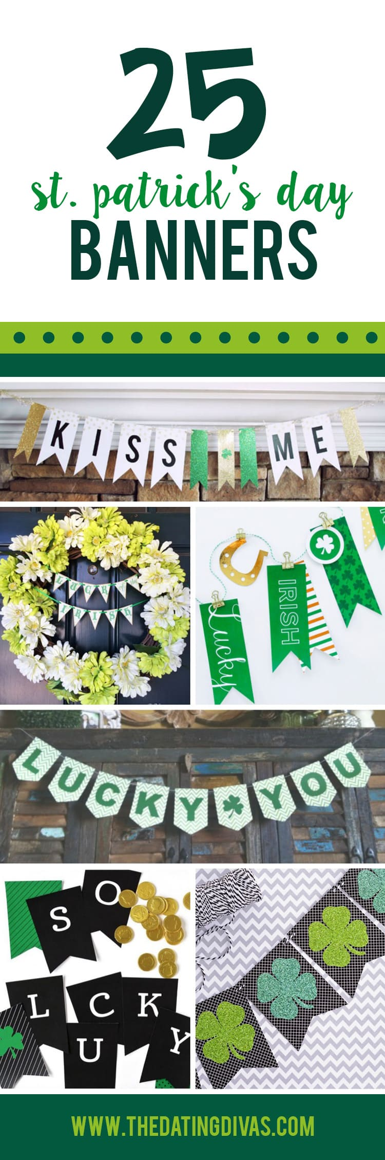 St. Patrick's Day Printable Banners ideas collage