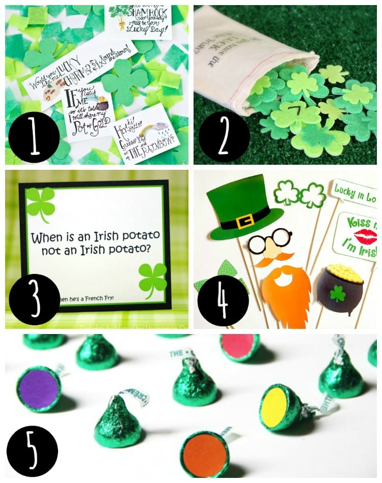 5 st patrick's day ideas collage