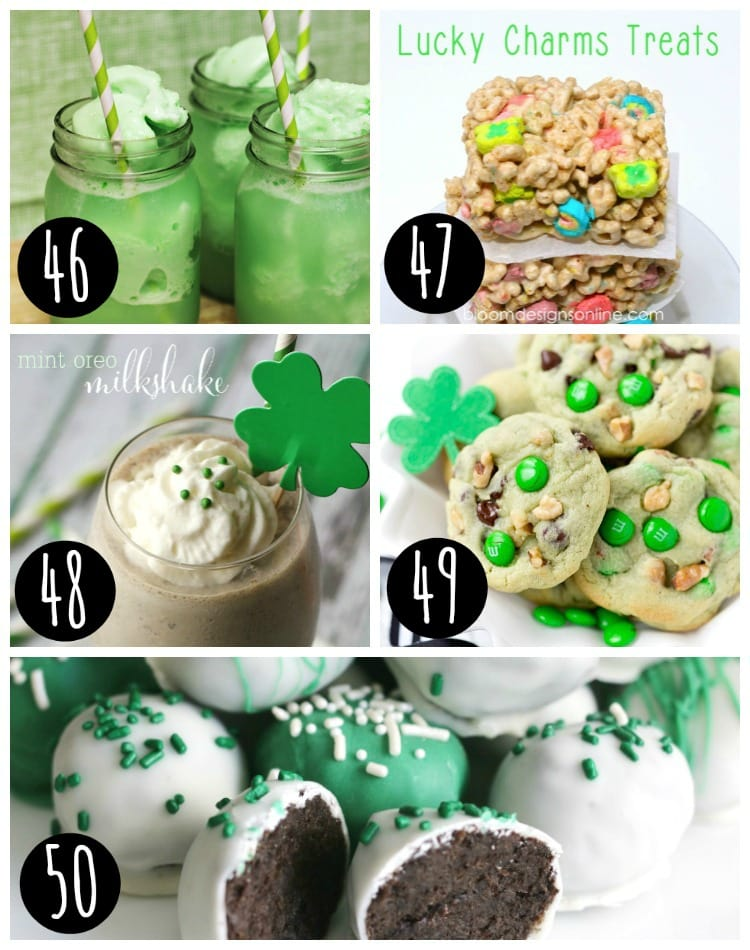 st patricks day mint oreo truffles