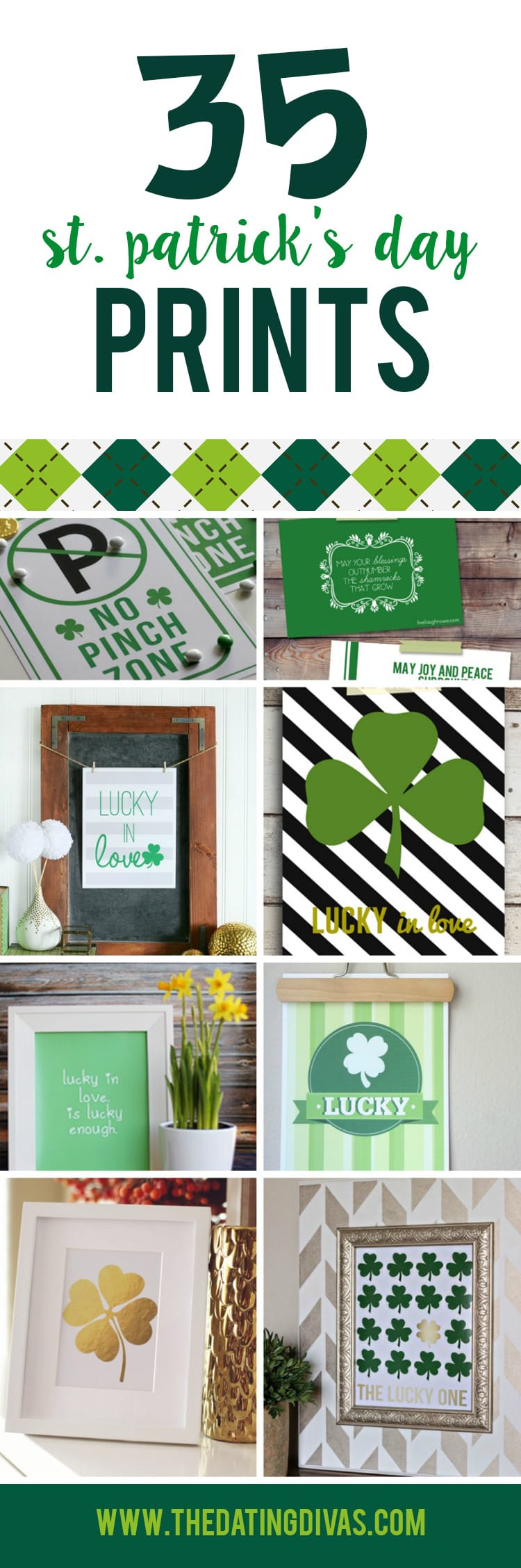 Lucky St. Patty's Day Printables banner