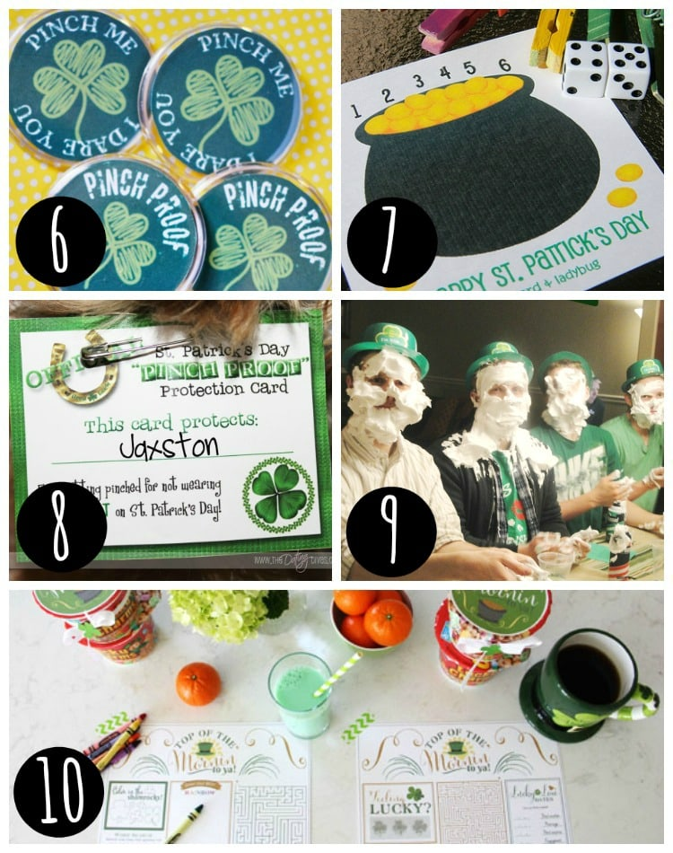 St. Patrick's Day Games and Activities collage