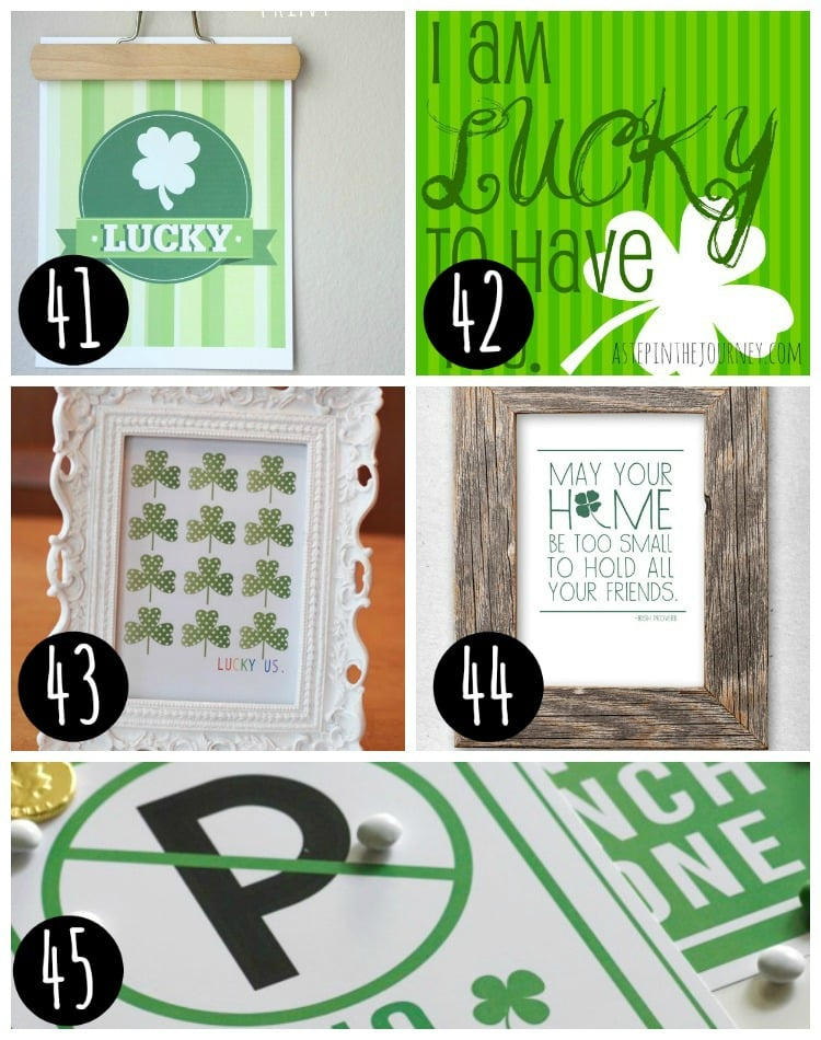 st patrick's day printables ideas for free in a collage