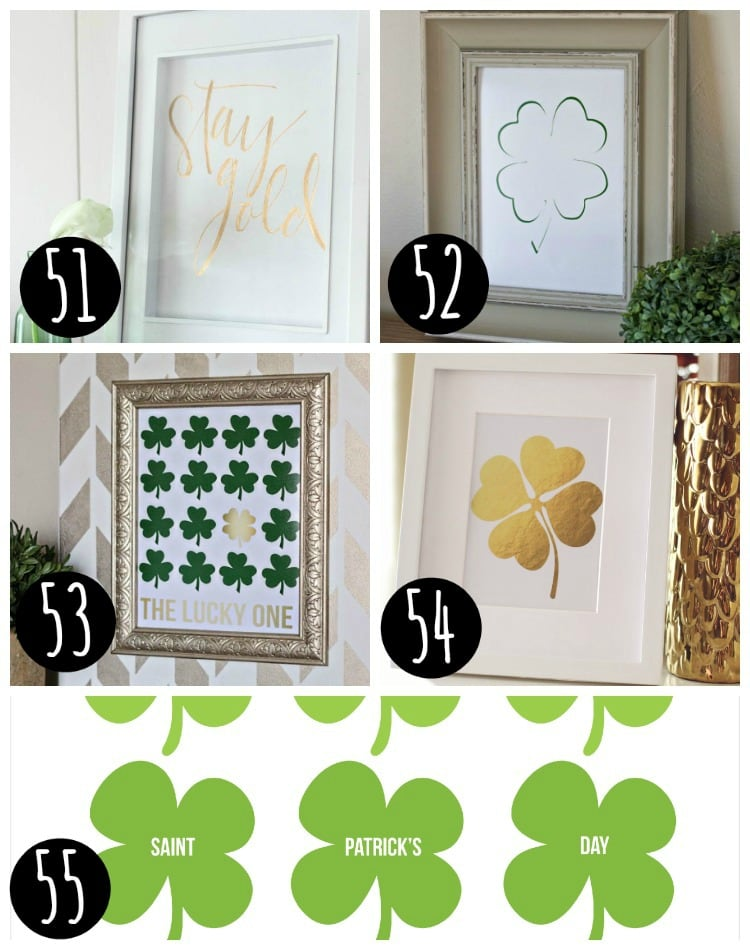 Free Printable St. Patty's Day Prints