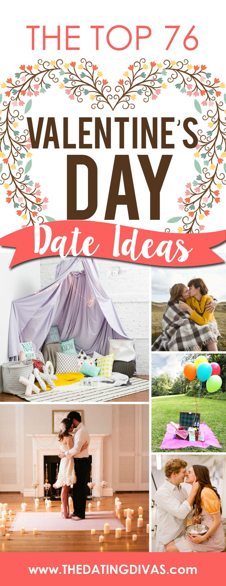 Top 76 Valentine's Day Date Ideas to try this Valentines day. :) #ValentineDayDate