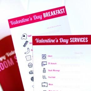 Valentine's Day Room Service