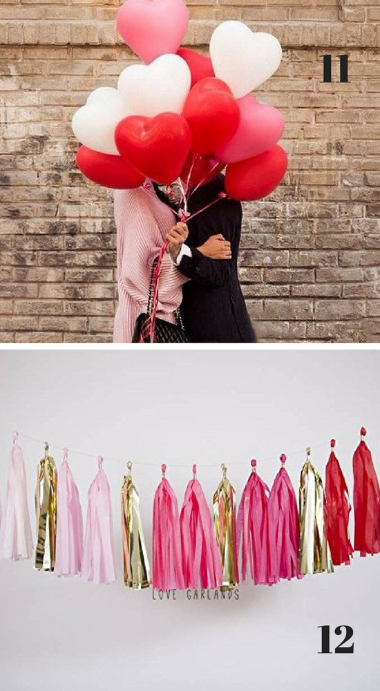 Valentine 39 s day decorations from the dating divas for Balloon decoration for valentines day