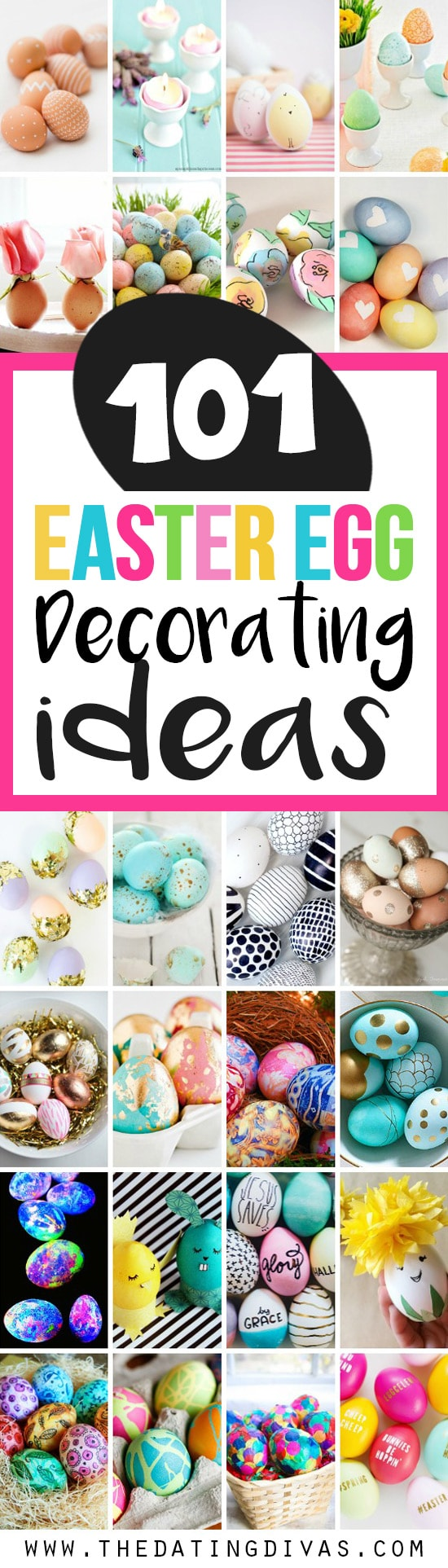 101 Creative Easter Egg Decorating Ideas from The Dating Divas