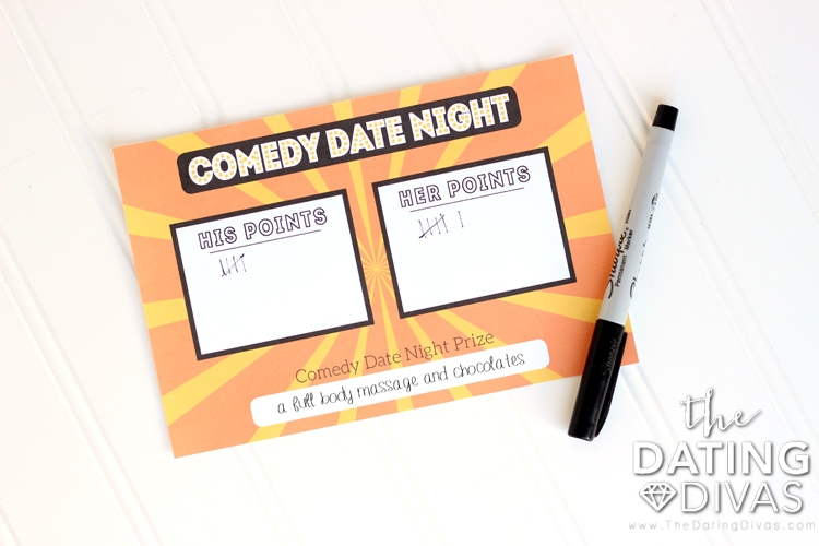 Comedy Date Night Scorecard