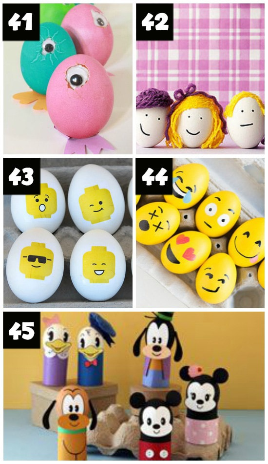 Creative Easter Egg Faces