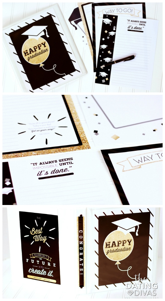 DIY Graduation Gifts Letter Binder