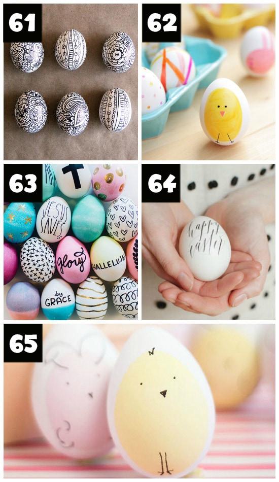 Decorating Easter Eggs With Sharpies