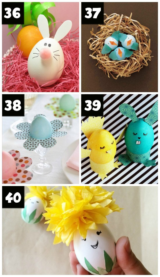 Easter Egg Bunnies, Birds, and Chicks