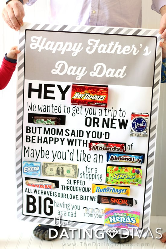 Father's Day Candy Bar Poster Printable