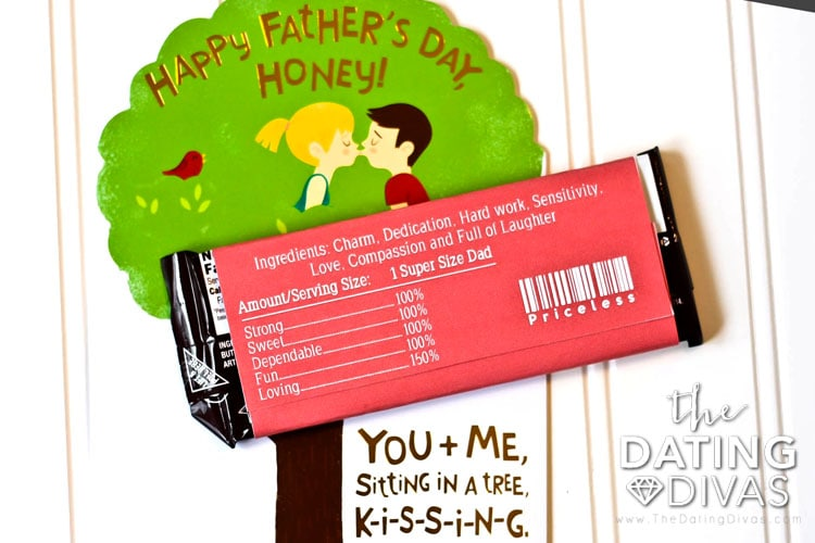 Fun Father's Day Printable Candy Wrapper