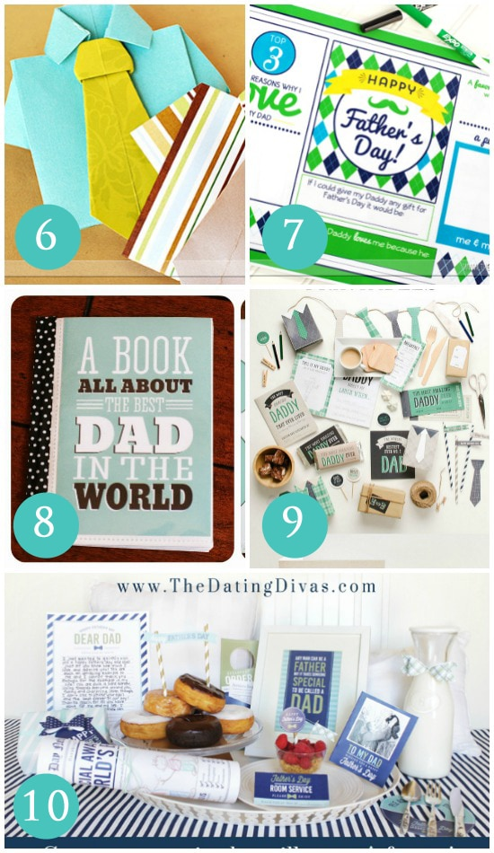 Printable Gift Ideas for Dad