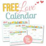 April 2016 Love Calendar