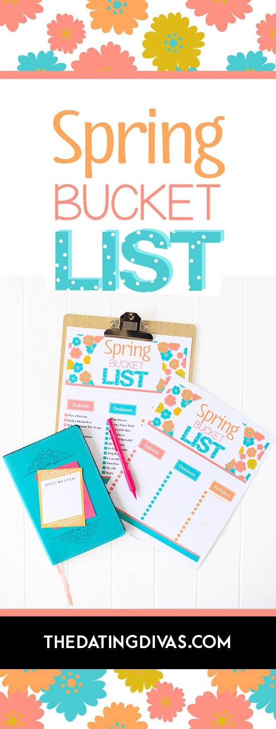 Free Printable Family Spring Bucket List from The Dating Divas