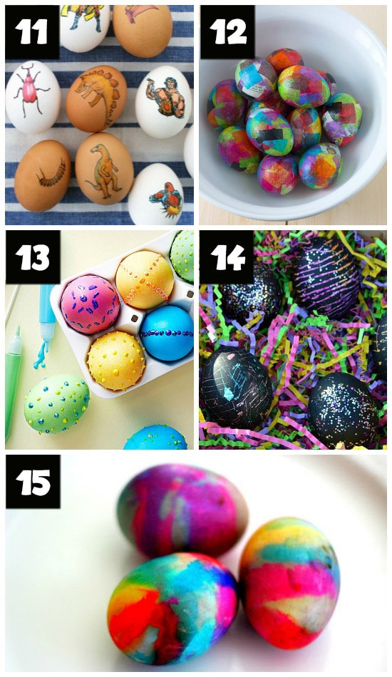 Fun and Easy Easter Egg Decorating and Dying Ideas