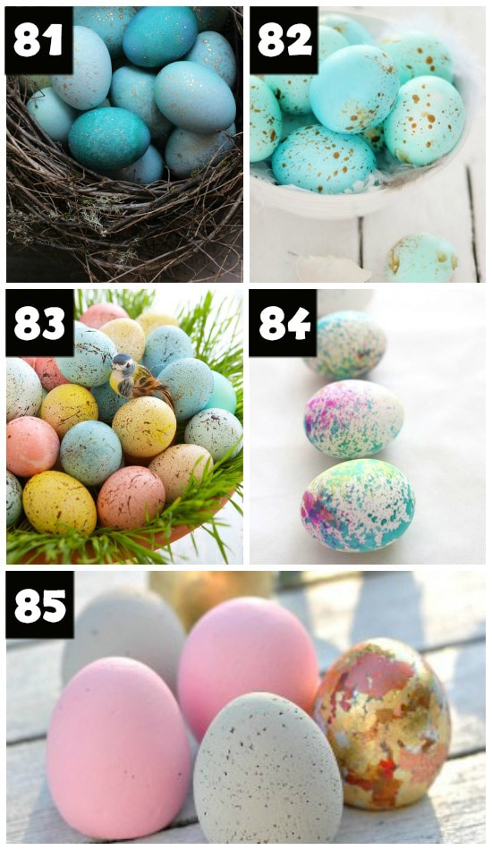 How to Paint Speckled Easter Eggs