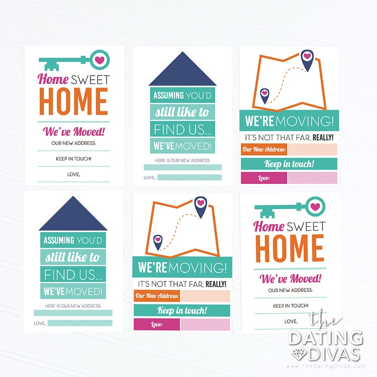 Moving Tips - Moving Announcement Cards
