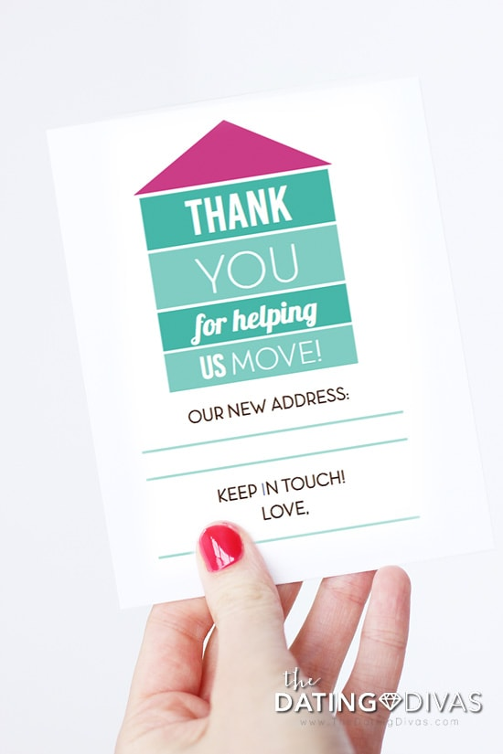 Moving Tips - Moving Thank You Cards