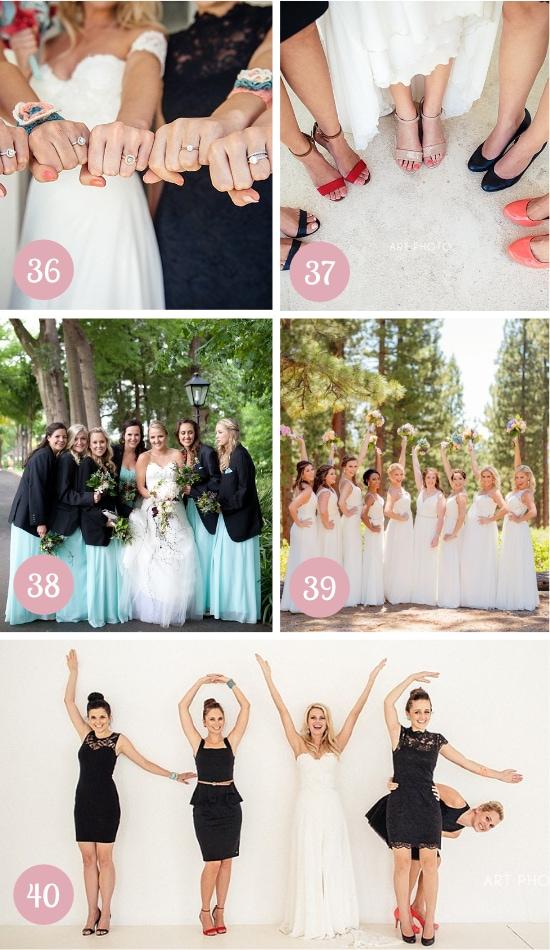 Photos with Bridesmaids