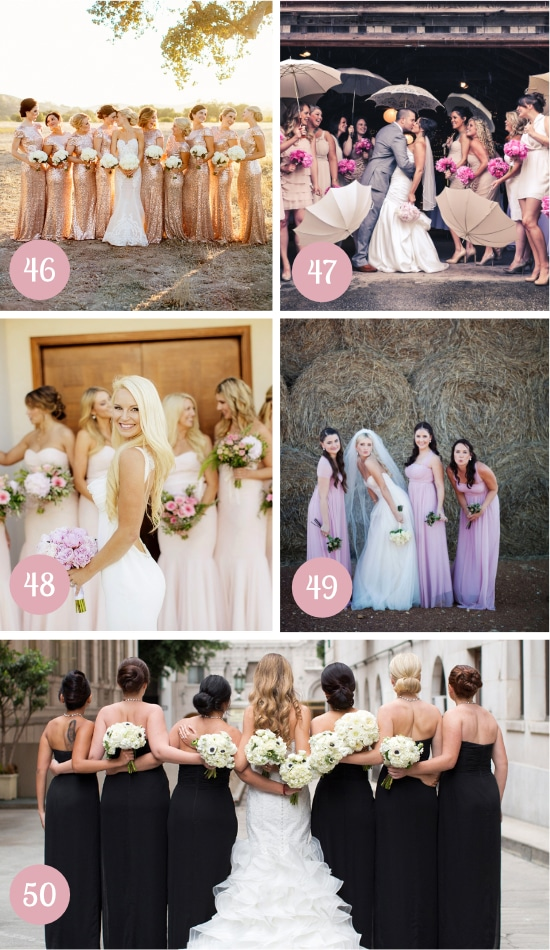 Ideas for Bridesmaids Pictures
