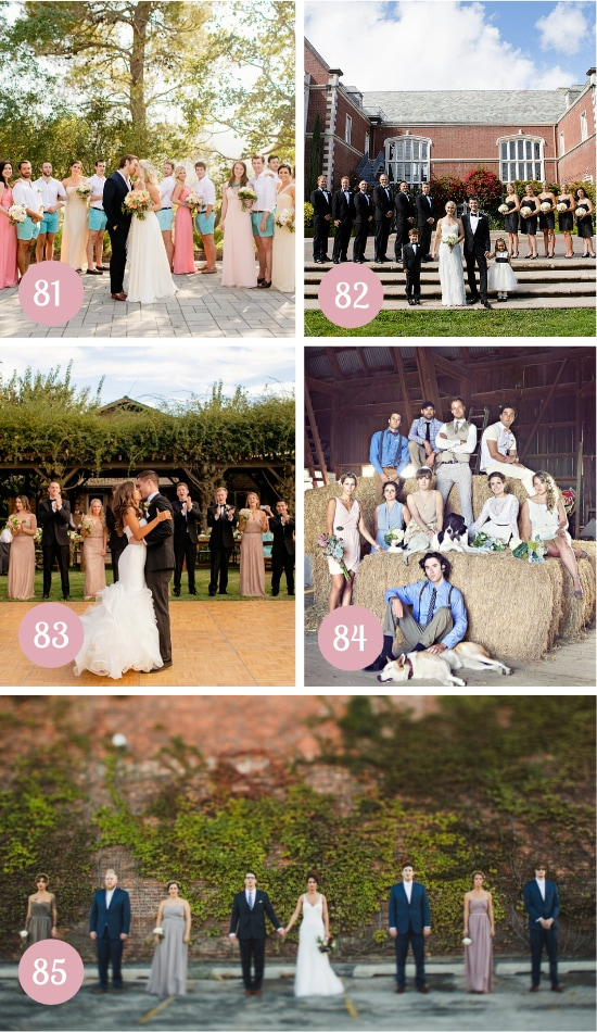 Ideas for Bridal Party Pictures