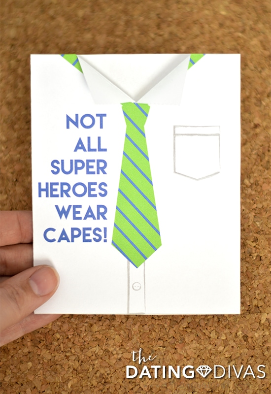 Free Father's Day Printable Tie Card