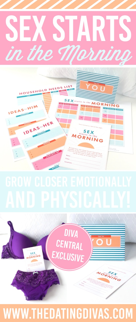 Sex Starts in the Morning: Bedroom Intimacy Printables