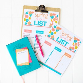 Free printable Spring Bucket List from The Dating Divas