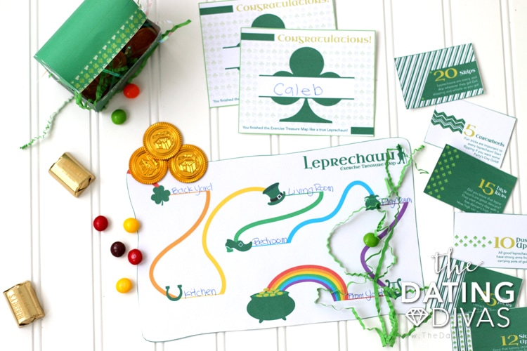 St. Patrick's Day Exercise Treasure Hunt Map