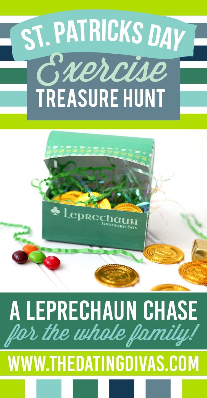St. Patrick's Day Exercise Treasure Hunt for Kids