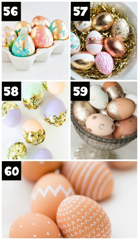 Stunning Metallic Easter Egg Ideas