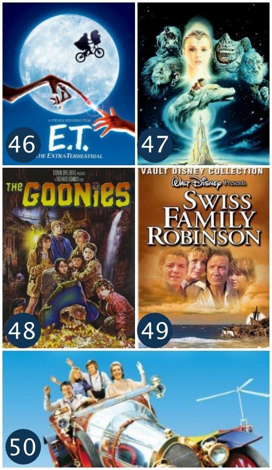 Family Movie Night Adventure Films