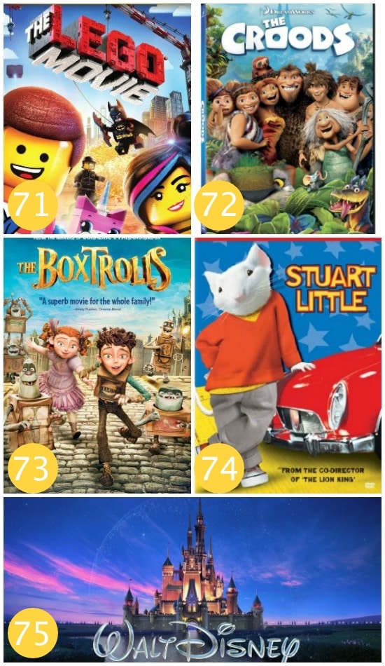 Family Movie Night Animated Films