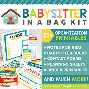 Babysitter Information Sheet Kit