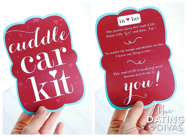 Car Date Basket Label and Love Poem