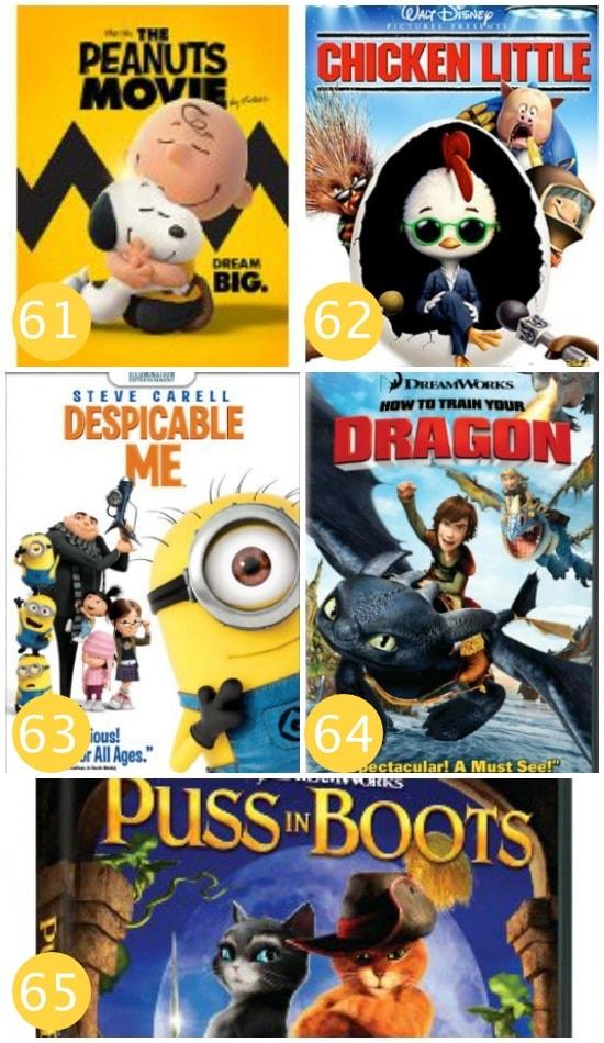 Family Movie Night Animated Films